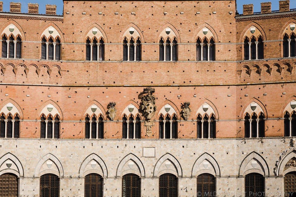 Siena historical building windows