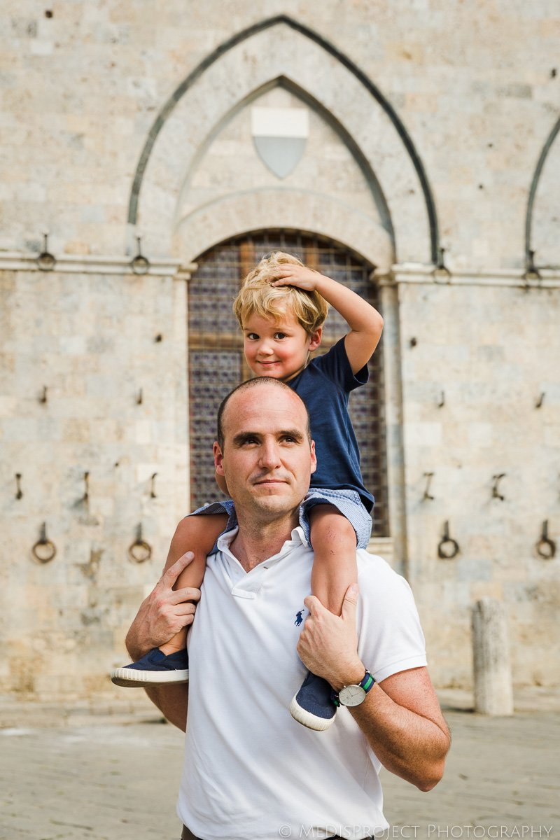 Father and son portrait in Siena