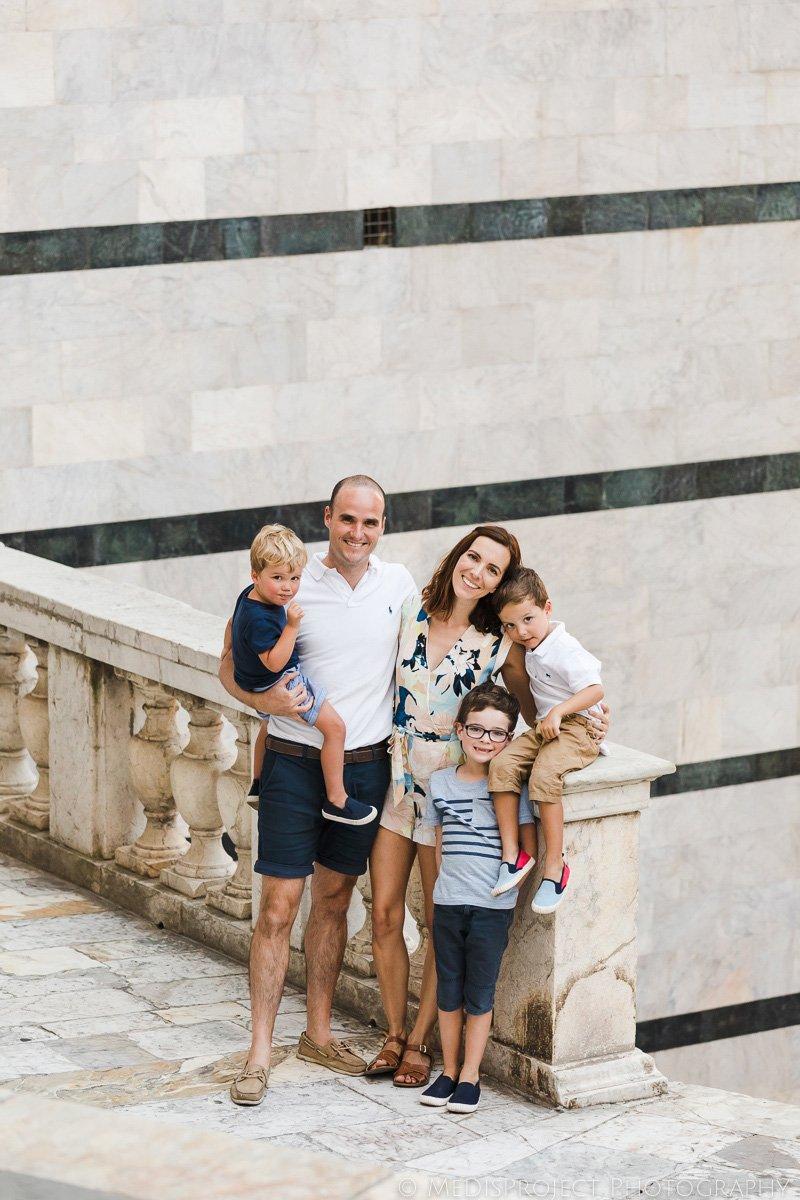 classic family portrait in Siena