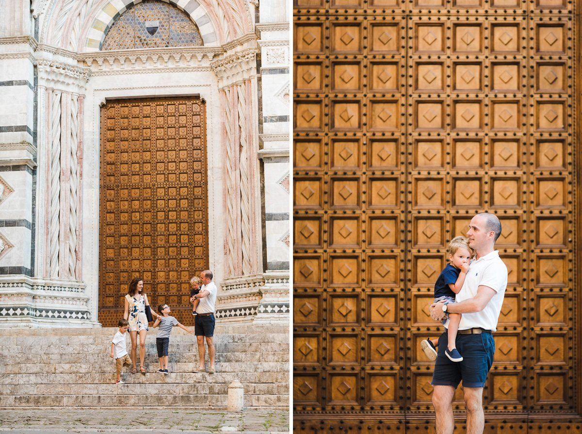 Monumental doors in Siena