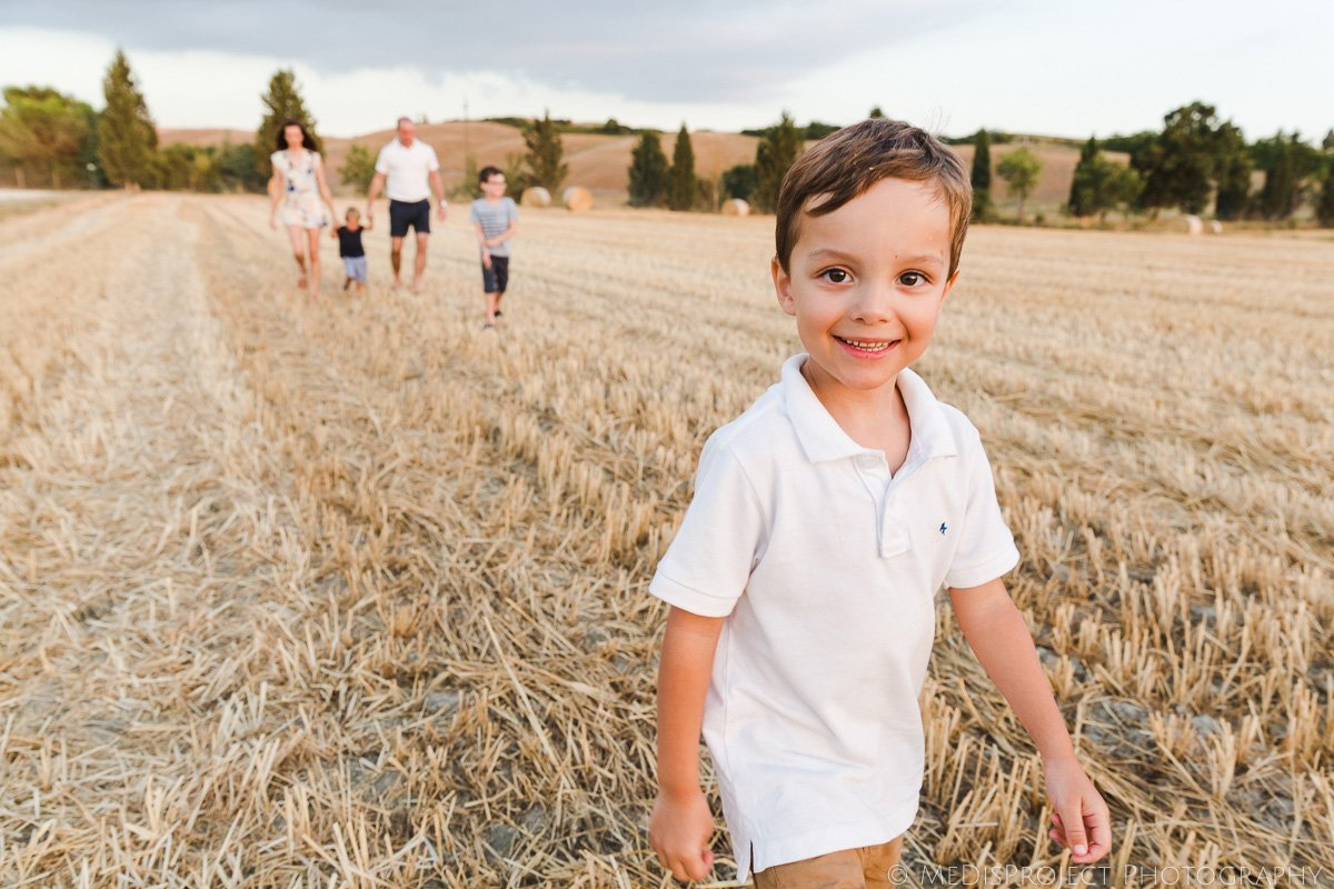 kids photos on vacation in Tuscany