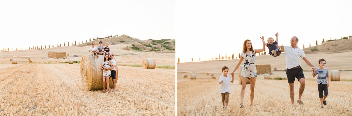 family photos in Crete Senesi