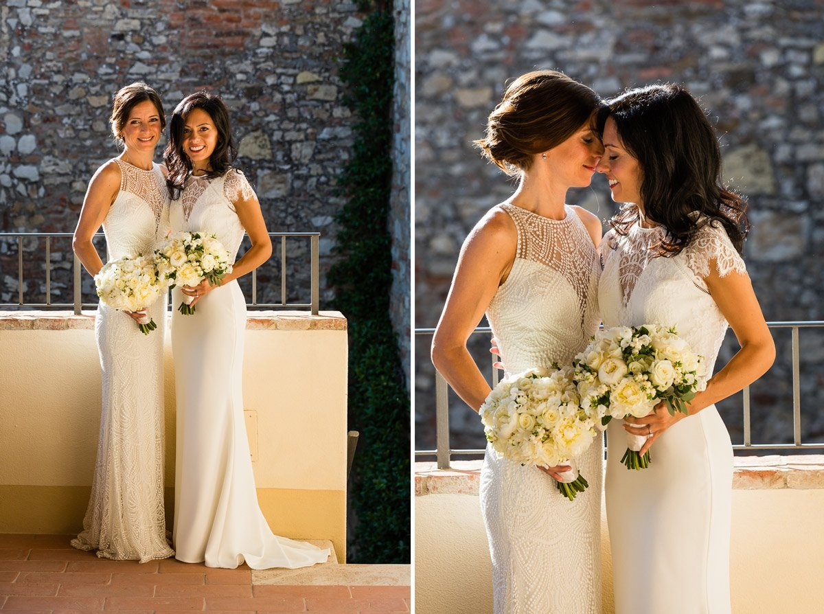 brides portraits at Borgo San Felice