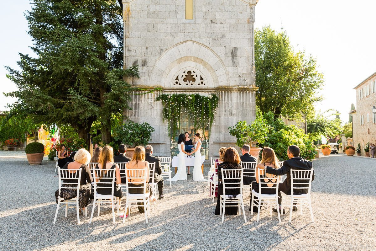 customized gay wedding ceremony Chianti