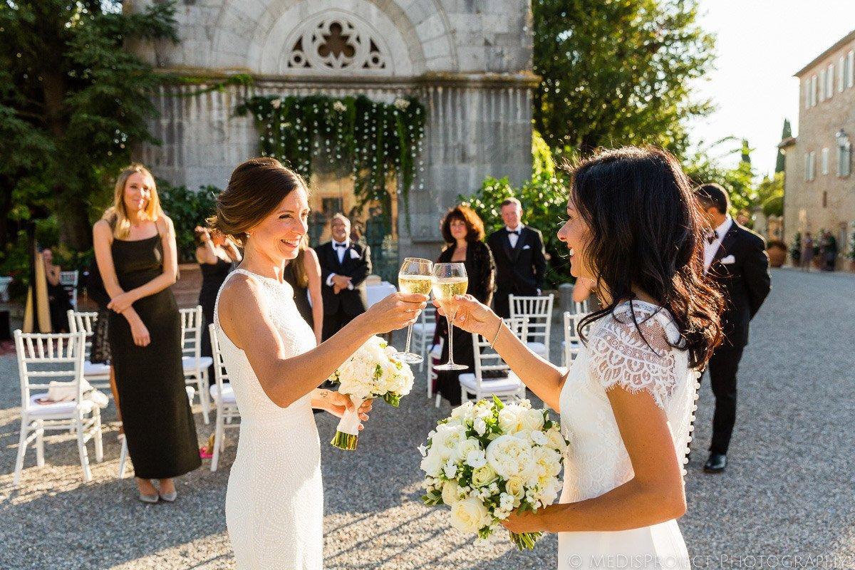 gay wedding ceremony at borgo san felice