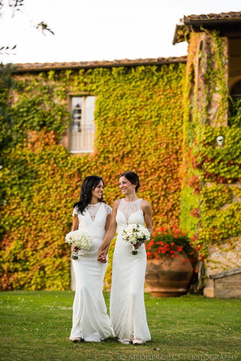 same-sex wedding photographers in Chianti