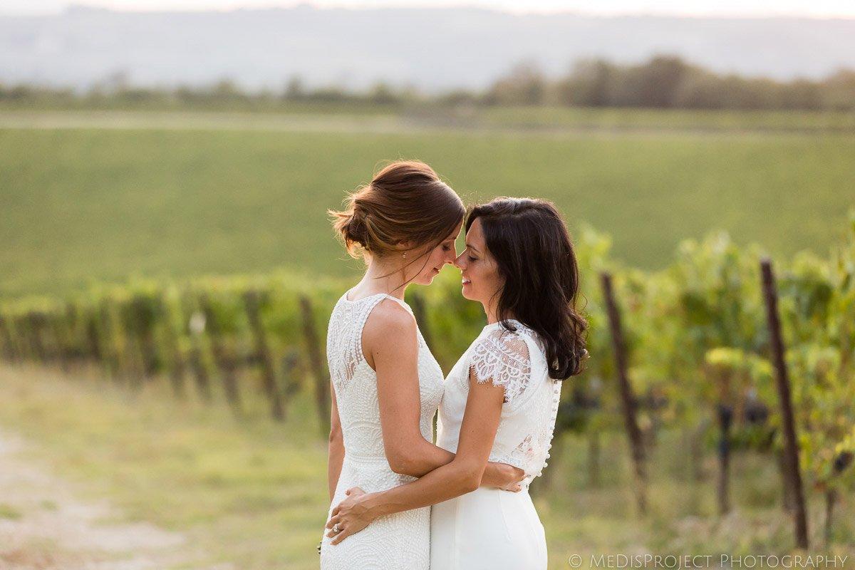 gay wedding in Chianti