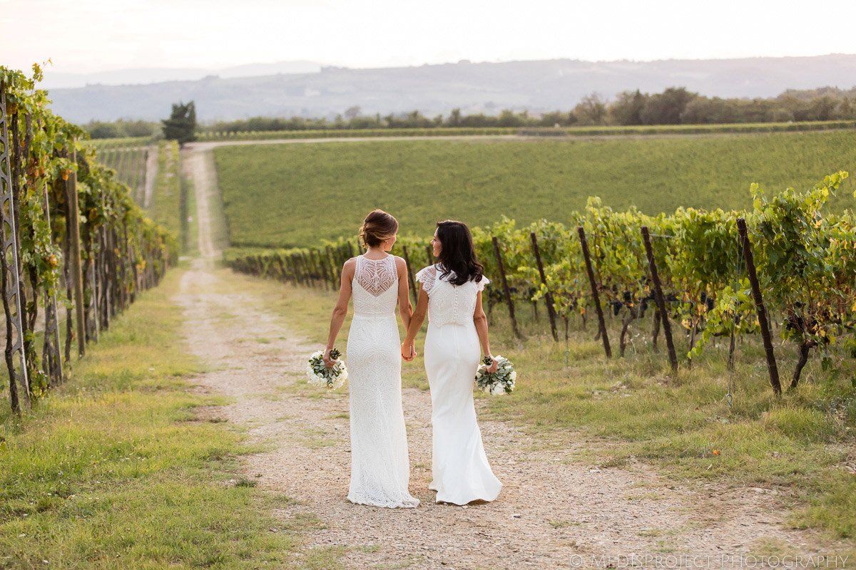 gay wedding photographers in Chianti