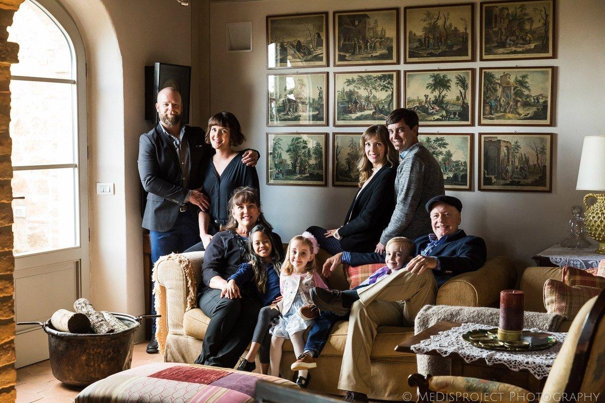 Family Reunion photos at Isabella Experience Casa Moricciani