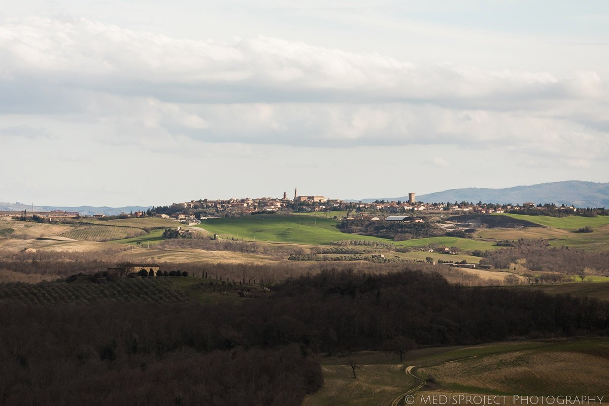 View of Pienza in Val d'Orcia
