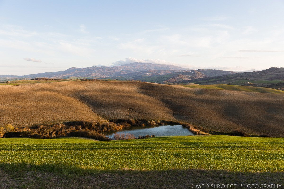 Val d'Orcia view from Vitaleta Chapel