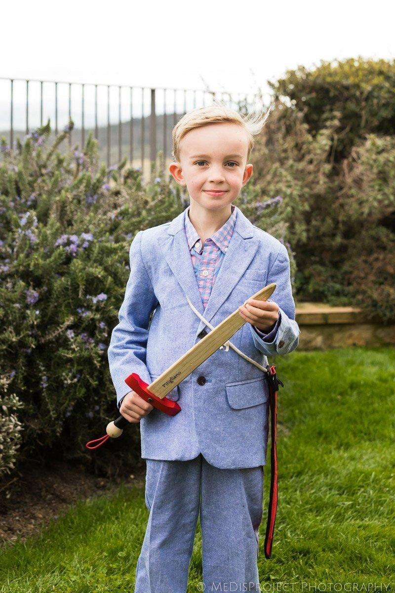young boy's portrait in Casa Moricciani