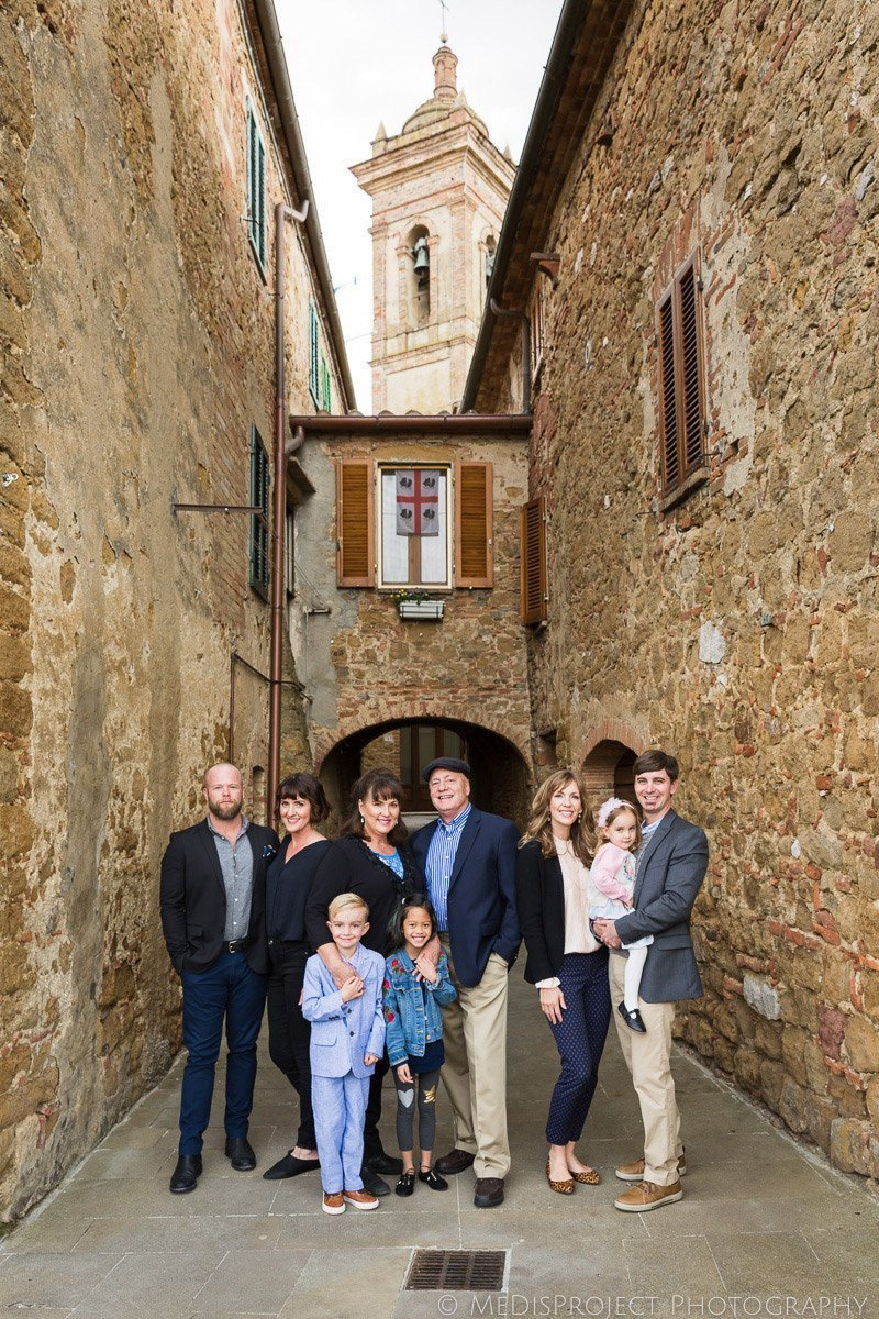 Family Reunion photos in Castelmuzio