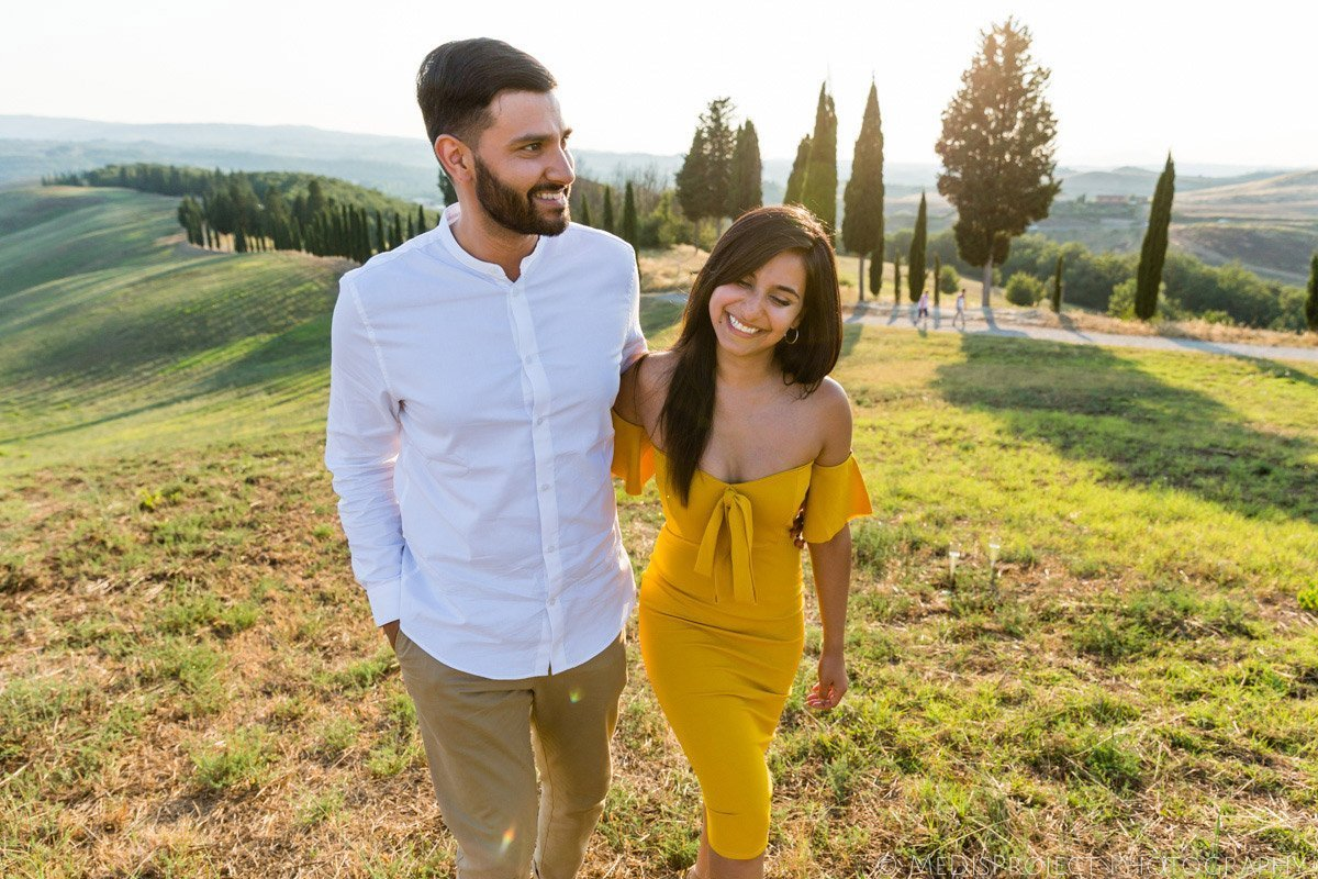 Wedding proposal photo session in Tuscany