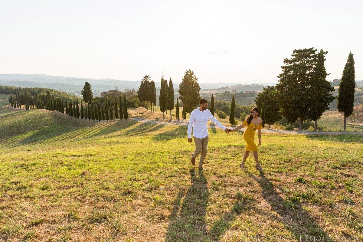 Engagement photo session in Certaldo