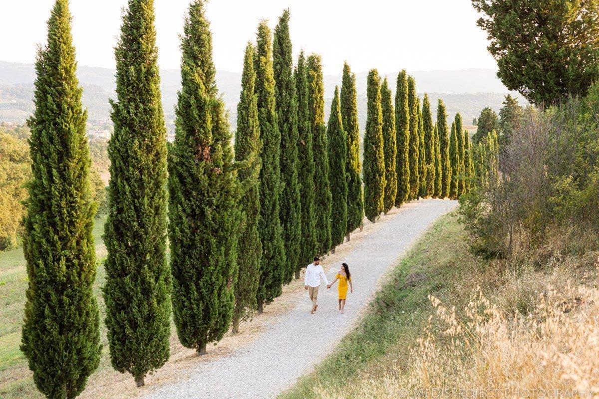 Couple photos in Tuscany