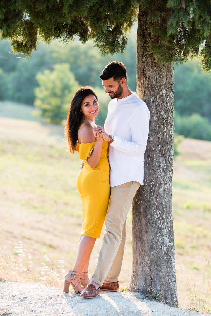 beautiful Indian couple Tuscany