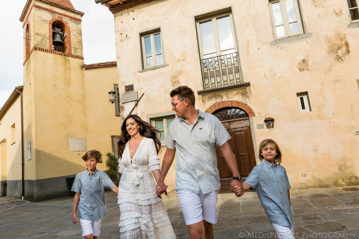 family photo session at il Borro Tuscany
