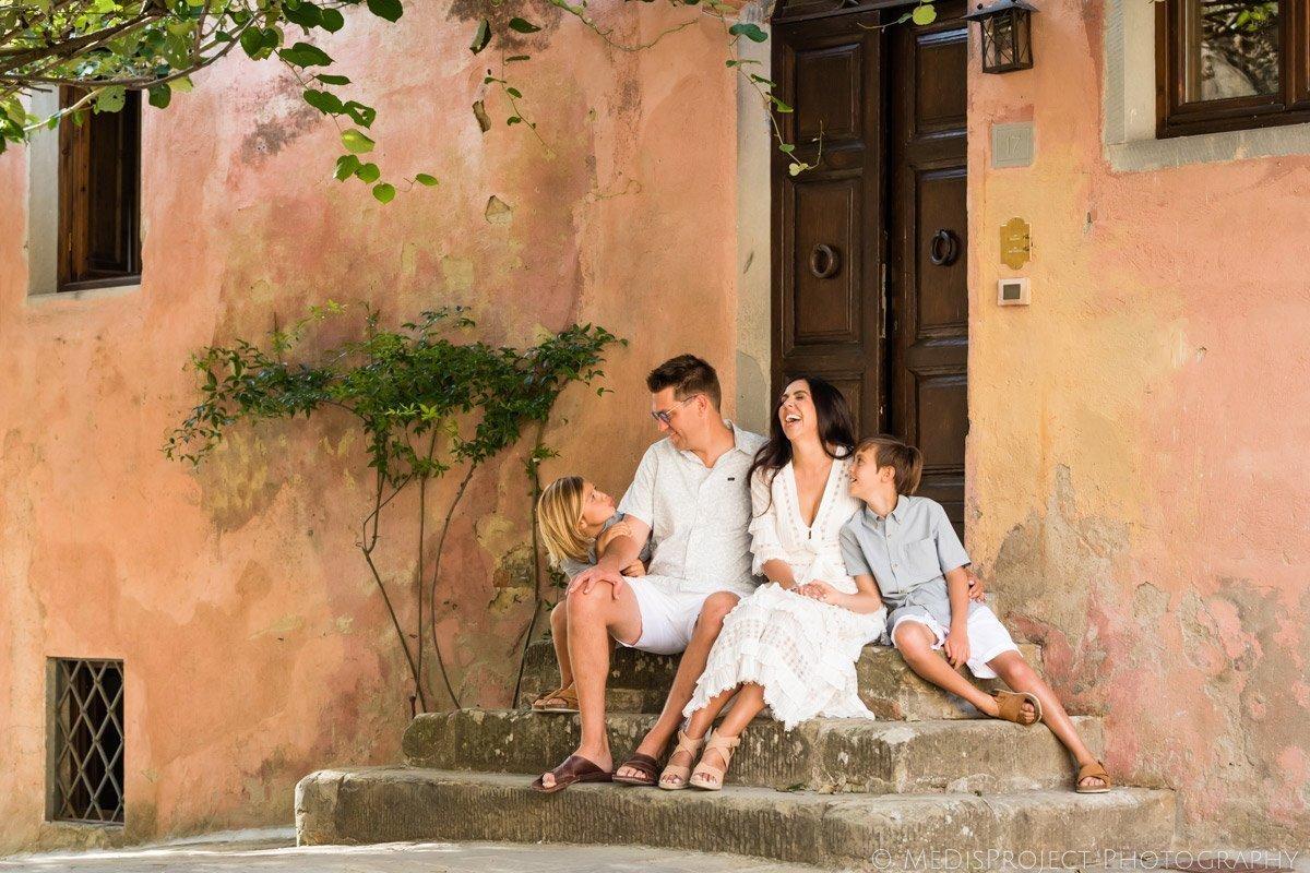 Family photos at il Borro Tuscany