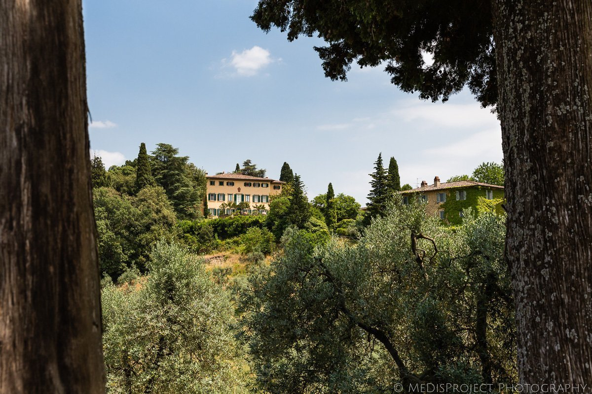 A view of Villa Petrolo in Bucine Tuscany