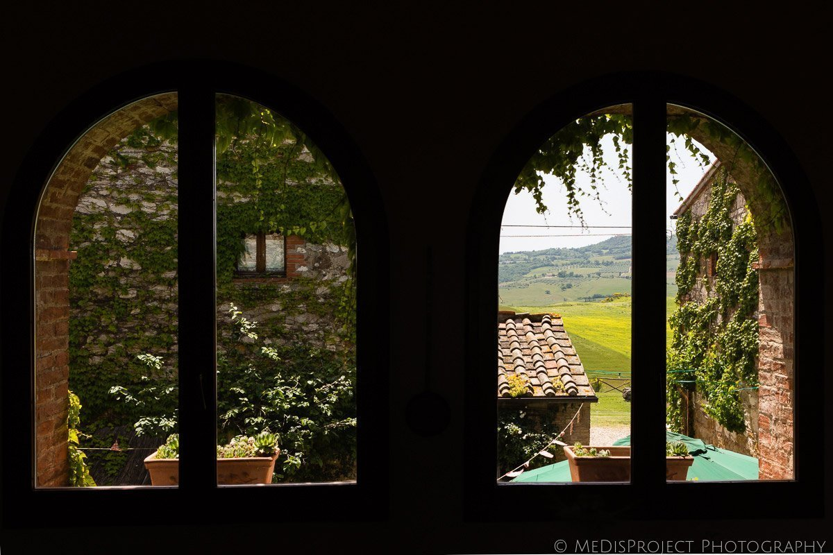 the view from one of the rooms at Agriturismo il Rigo