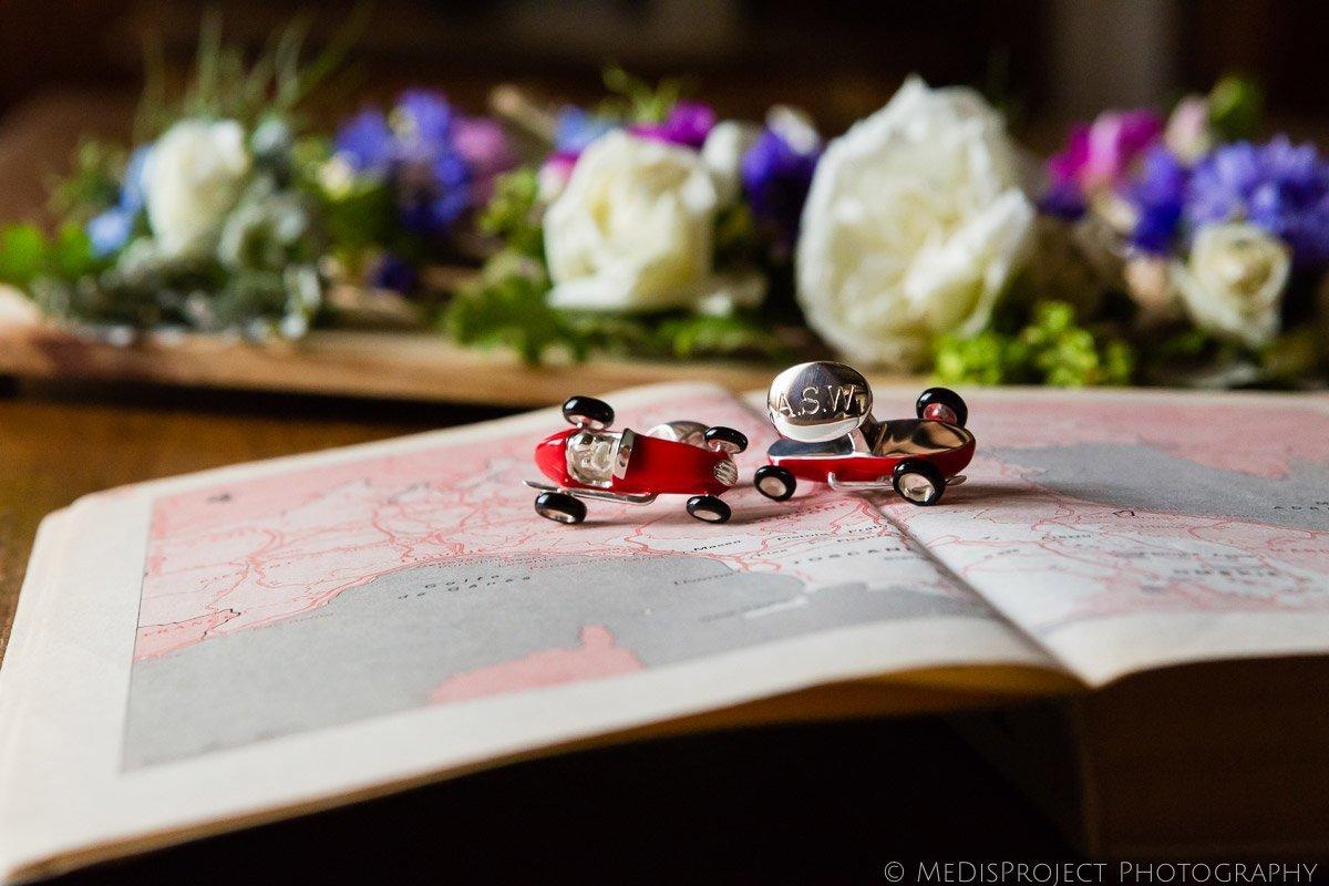 Deakin & Francis red Racing Car Cufflinks