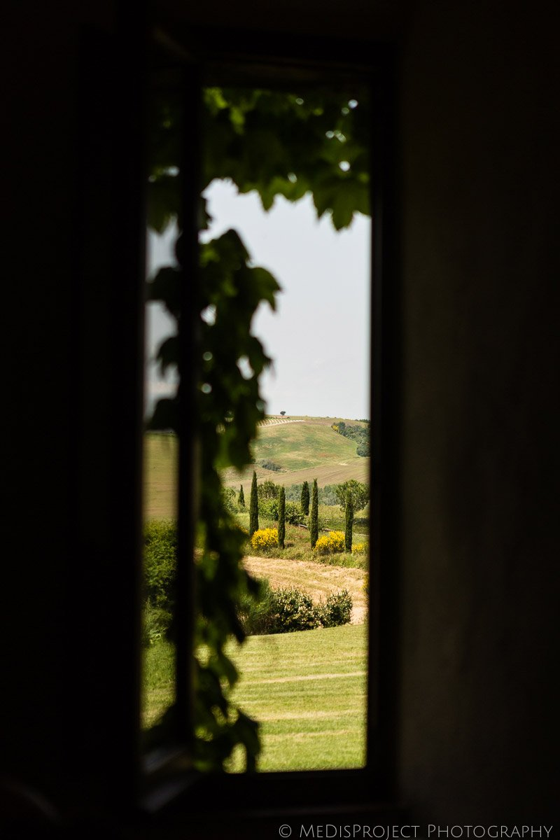a view from a Tuscan window