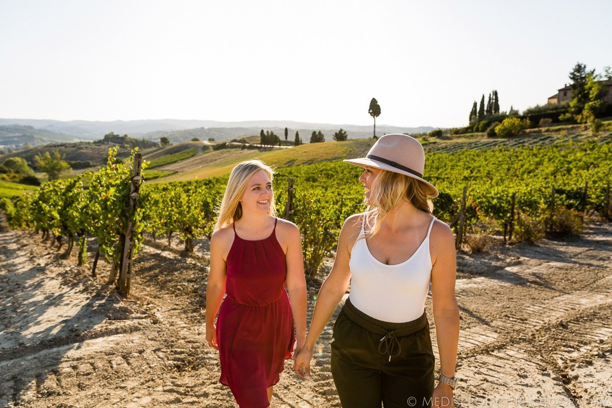 LGBT marriage proposal for wine lovers