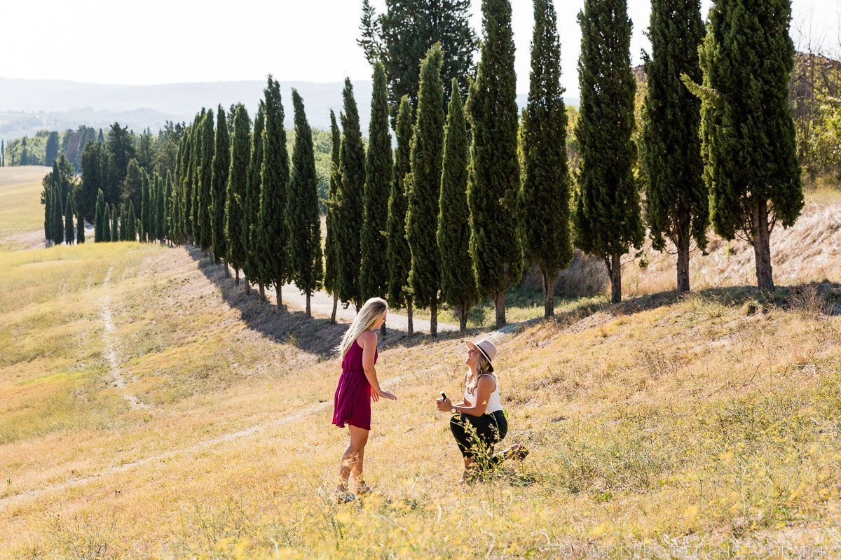 Lesbian marriage proposal in Tuscany