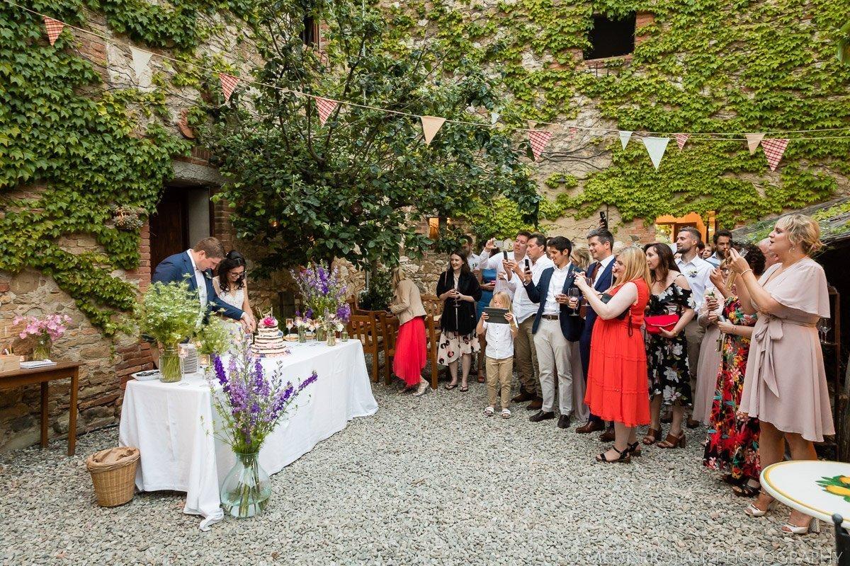 Wedding cake cut at Il Rigo