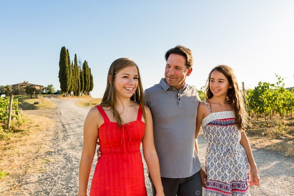 father and daughters portrait
