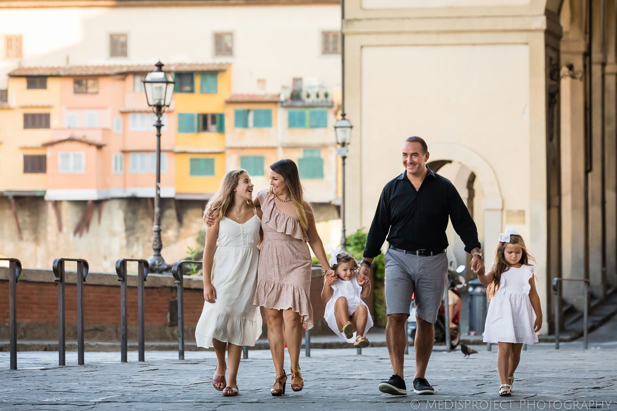 Early morning family photoshoot in Florence