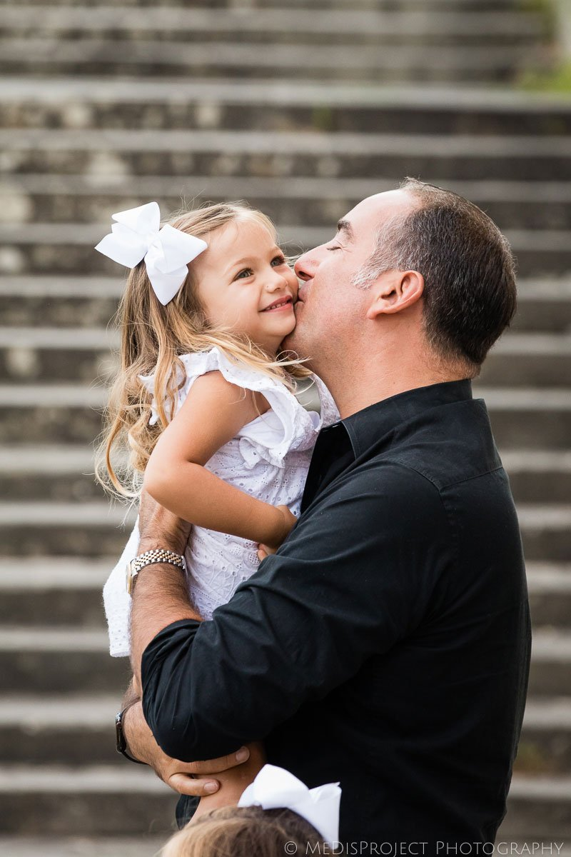 happy father and daughter having fun