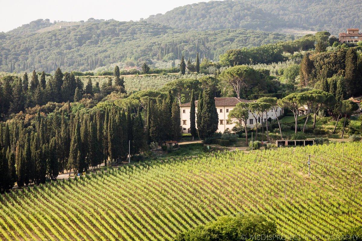 chianti hills view from Villa Ripanera
