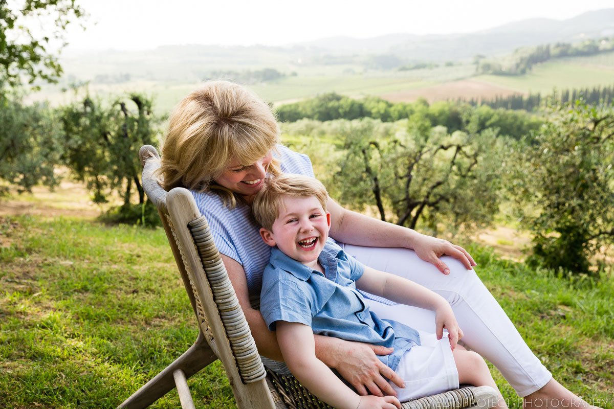 mother and son during a family photo session in Florence
