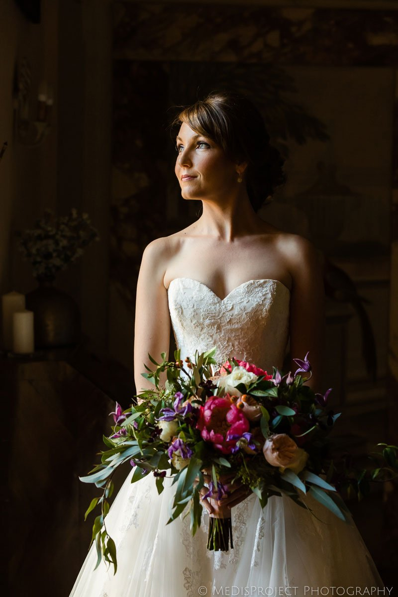 Bridal portrait by Florence wedding photographers MeDisProject