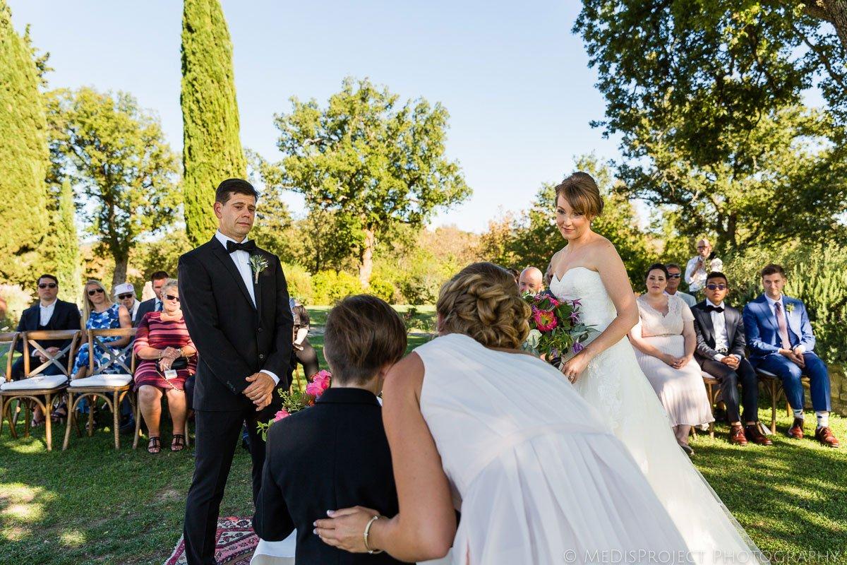 wedding ceremony at Meleto Castle