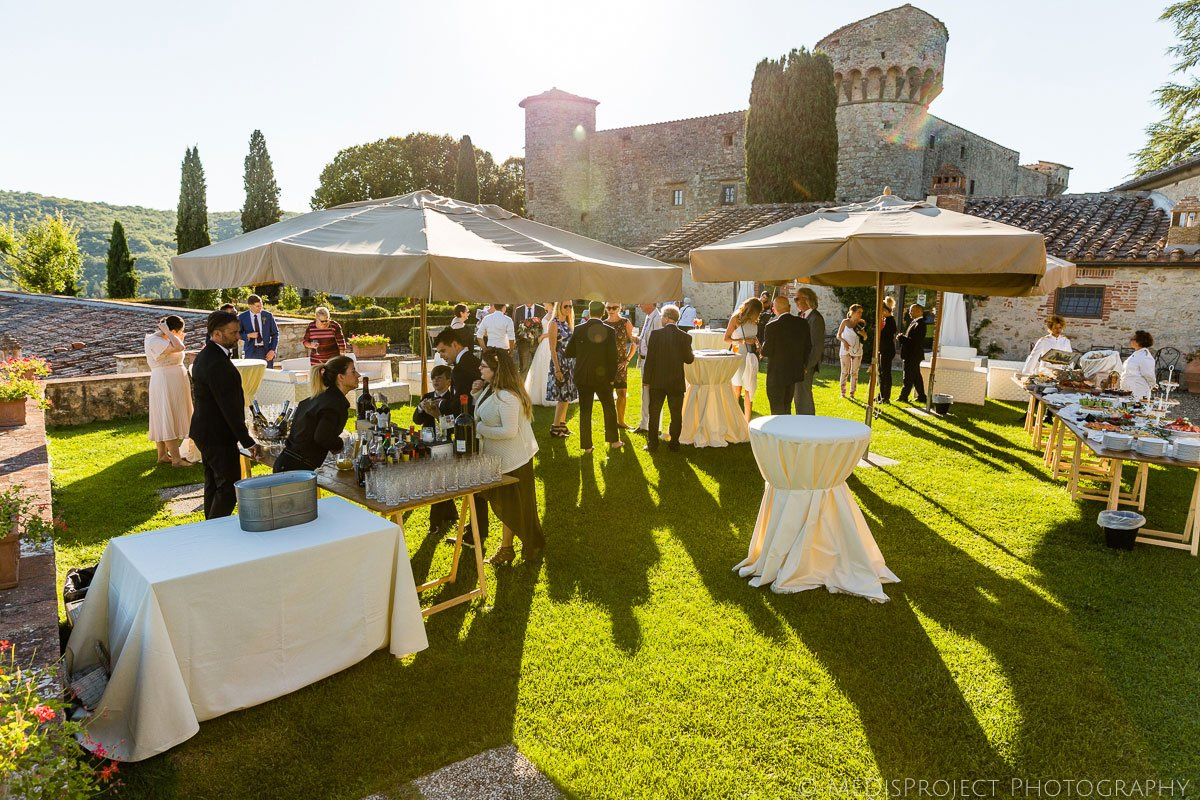 Wedding reception at Meleto Castle in Tuscany