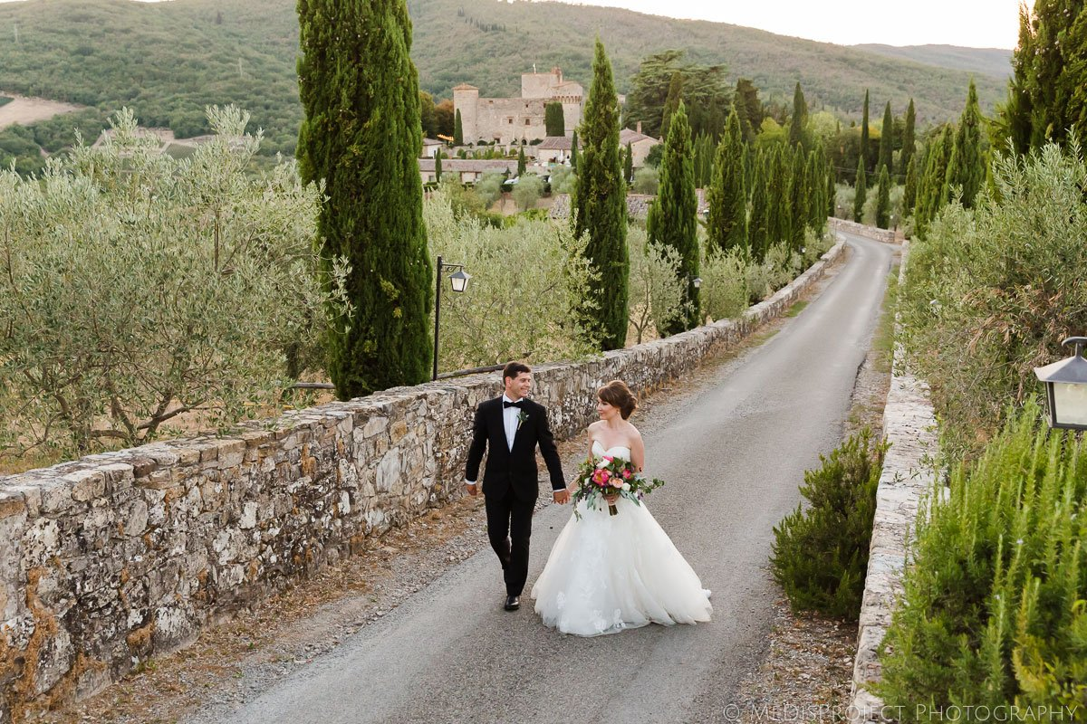 Elopement in Tuscany at Meleto Castle