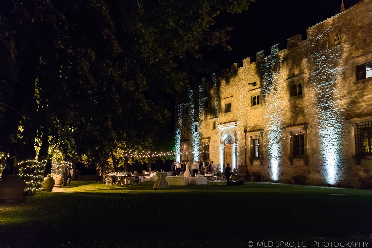 Night Wedding party at Meleto Castle