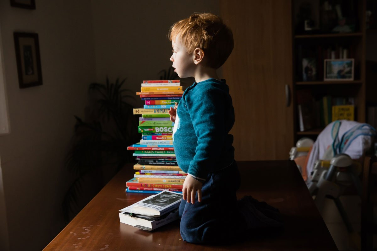 gingerhead boy with books