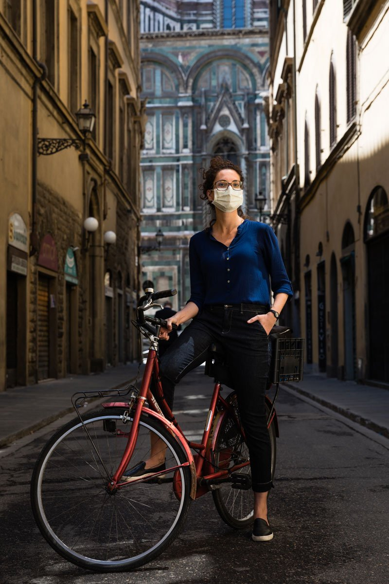 A portrait of Brazilian photographer Camilla Cheade during Coronavirus pandemic in Florence