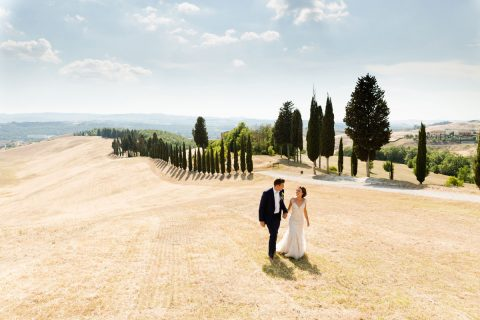 wedding photo shoot in Tuscany