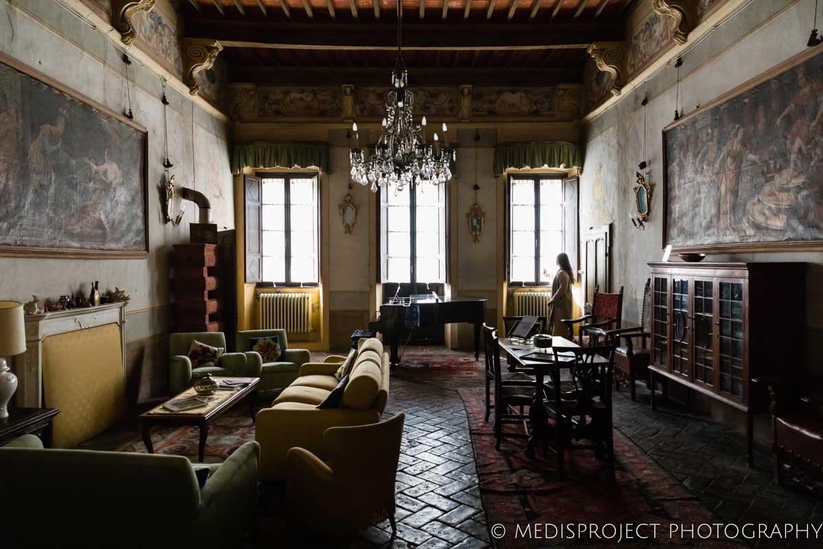the main room at Casa dell'Abate Naldi