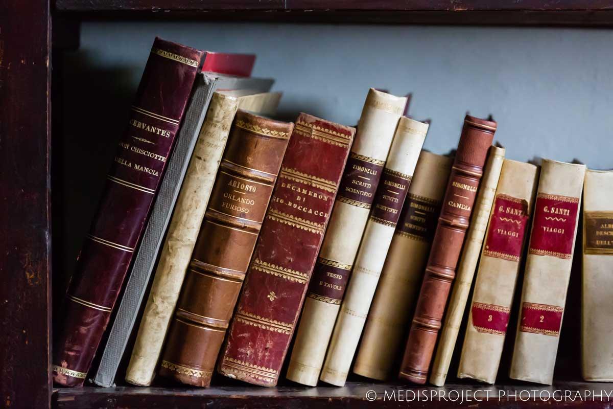 books at Casa dell'Abate Naldi's library