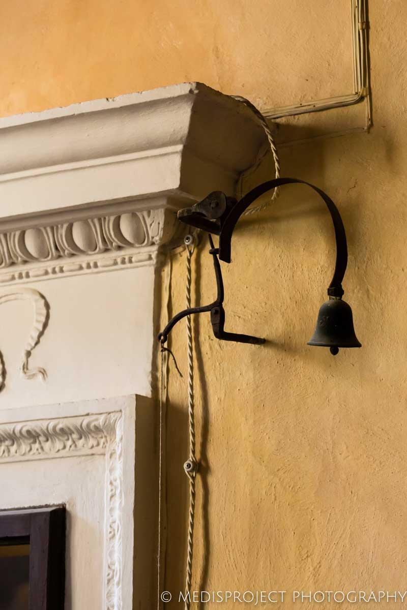 detail of the original door bell at Casa dell'Abate Naldi