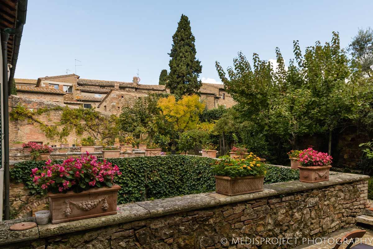 the garden at Casa dell'Abate Naldi