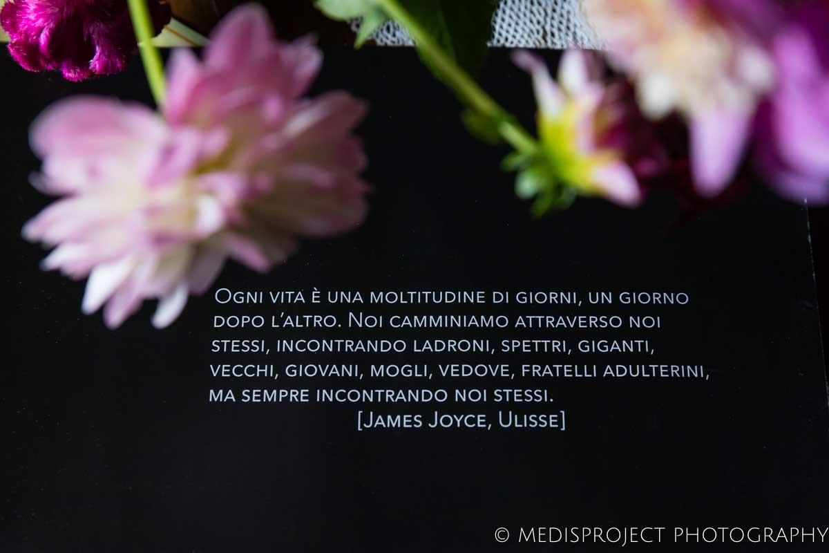 citazione dall'Ulisse di Joyce alla Casa dell'Abate Naldi