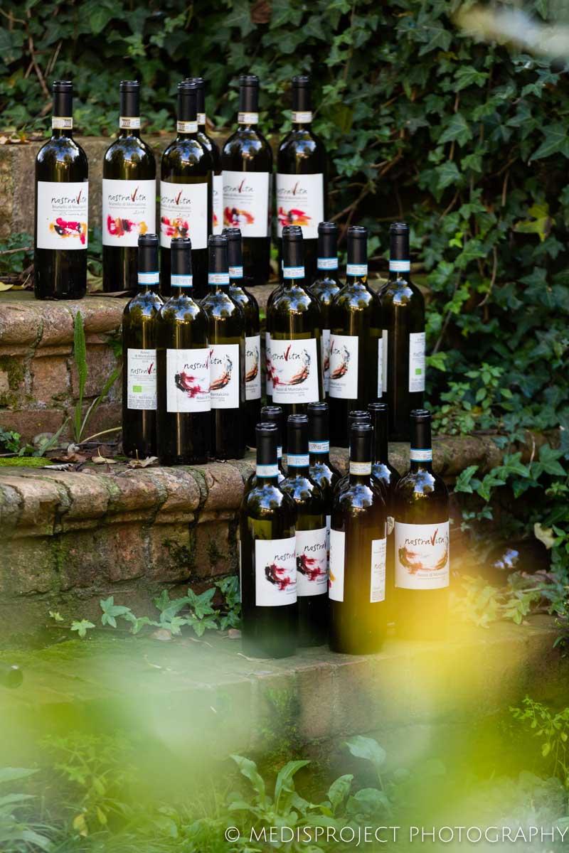 NostraVita's red wine bottles