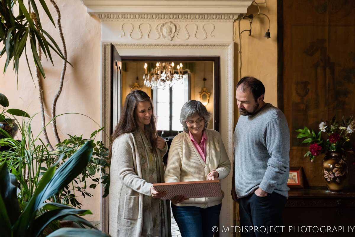 Lorenza Santo welcoming her guests at Casa dell'Abate Naldi